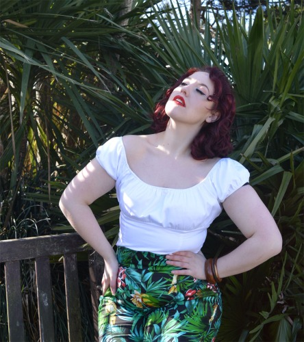 Pinup Girl Clothing High Waisted Pants Parrot Trousers