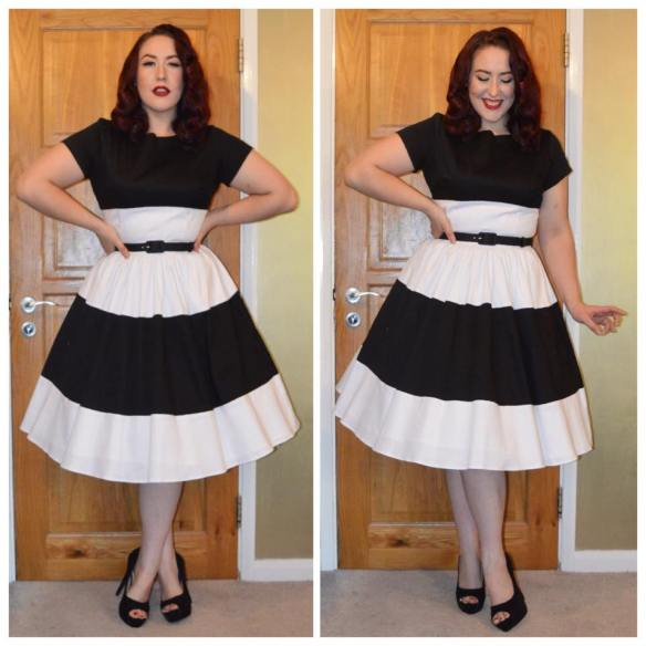Pinup Girl Clothing Black and White amanda dress