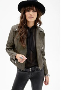 63b134c34cd18 Faux Leather Moto Jacket by Forever 21  35 – This textured faux jacket  comes in 3 colours