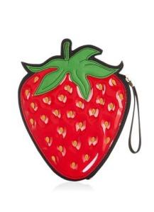 Red Strawberry Clutch