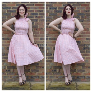 Voodoo Vixen Chelsea dress, old Very.co.uk wedges, Bangles eBay & Dorothy Perkins