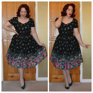 Summer Swing Wildflower dress, H&M flats