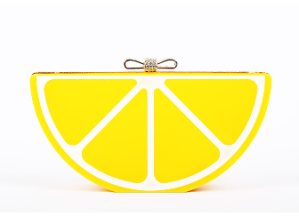 Doll Me Up Darling Lemon Clutch Bag