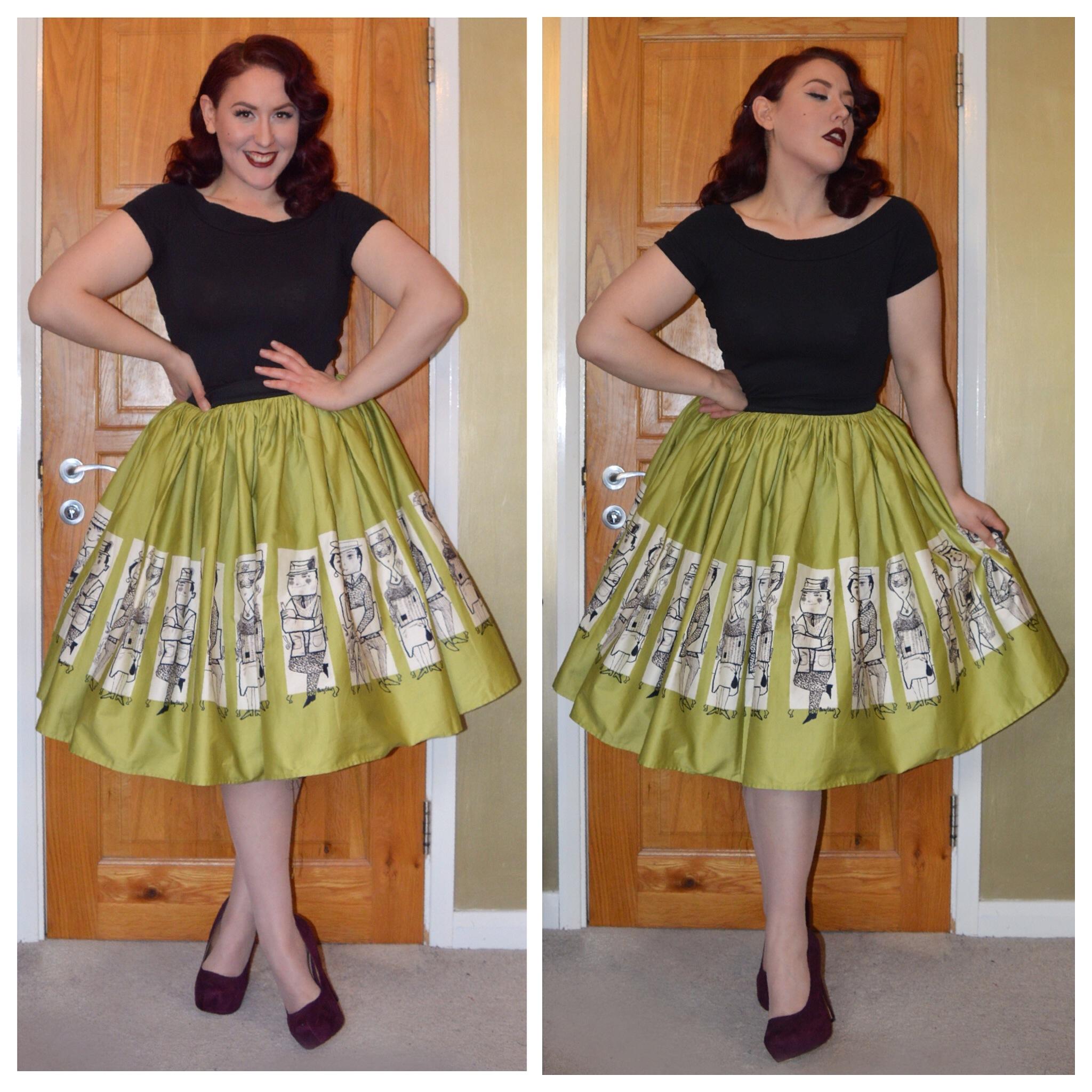 Pinup Clothing Muter Jenny Skirt Primark Scoop Neck Top Old Heels