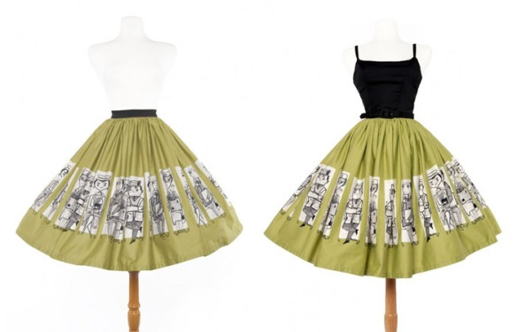 Pinup Girl Clothing Mary Blair Commuter Print Jenny Skirt Dress