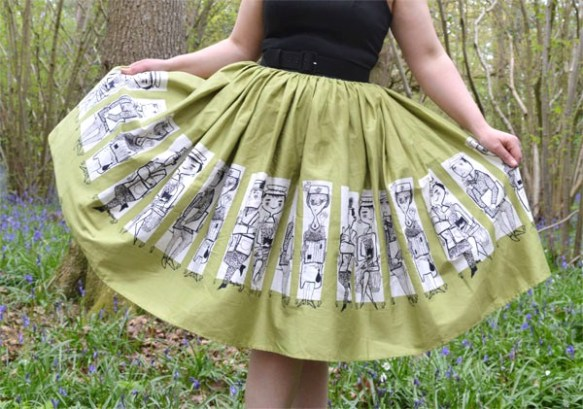 Pinup Girl Clothing Mary Blair Commuter Dress Skirt