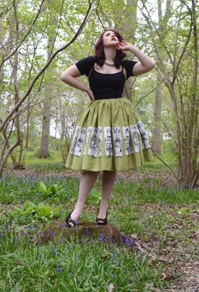 Pinup Girl Clothing Mary Blair Commuter Dress Skirt