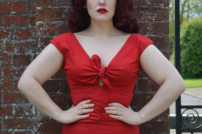 Pinup Girl Clothing Dixiefried Red Niagara Dress