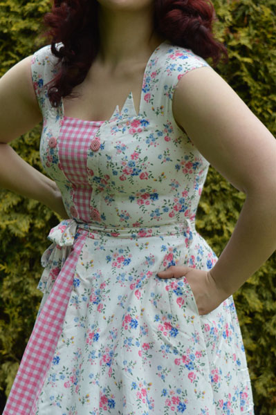 Love Ur Look Floral Check Picnic Dress