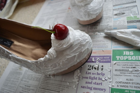 Ice cream sundae shoes DIY make yourself handmade