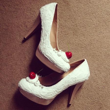 Ice cream sundae shoes DIY make yourself handmade