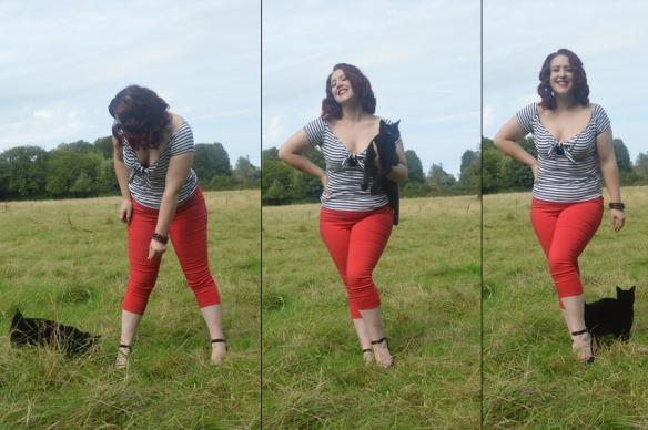 Tina Capri Pants Trousers Hell Bunny
