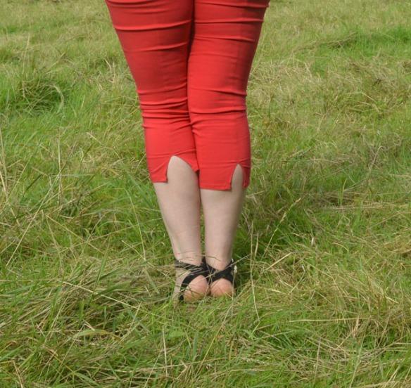 Hell Bunny Capri Pants Trousers High Waisted