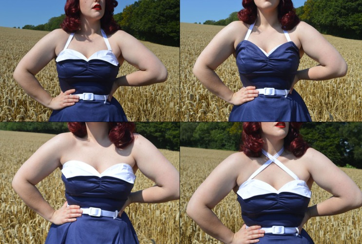 Collectif Ginger Navy & White Swing Dress