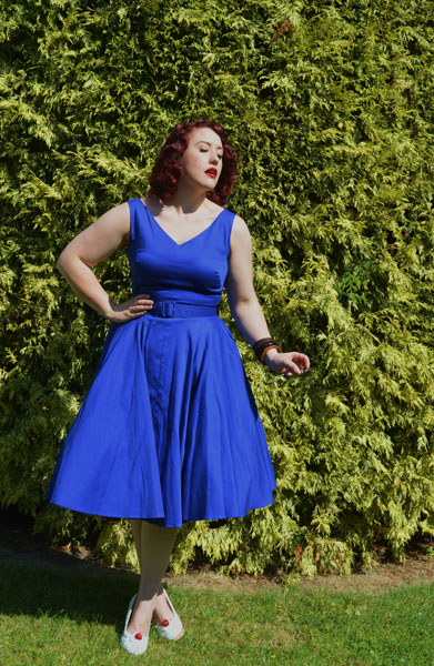 Pinup Girl Clothing Havana dress Midnight Blue