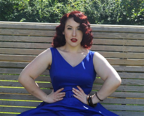 Pinup Girl Clothing Havana dress Midnight Blue
