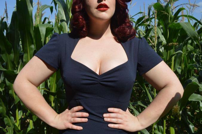 Goldie's Clothing Navy Lauren dress
