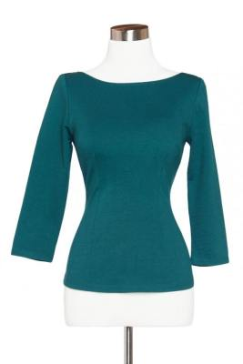 Sabrina top in Teal