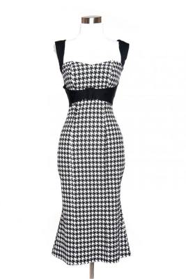 Jessica dress in Houndstooth