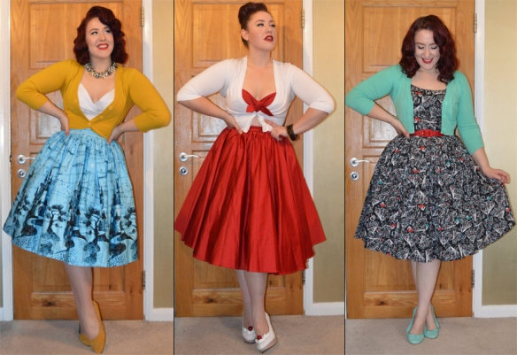 Cropped Cardigans retro vintage pinup