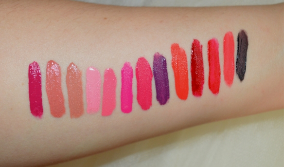 Makeup Academy Luxe Velvet Lip Lacquers swatches new shades 2015