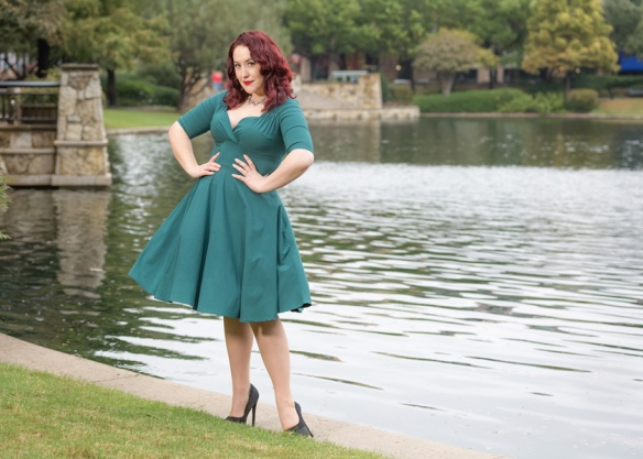 Trixie teal doll dress Collectif