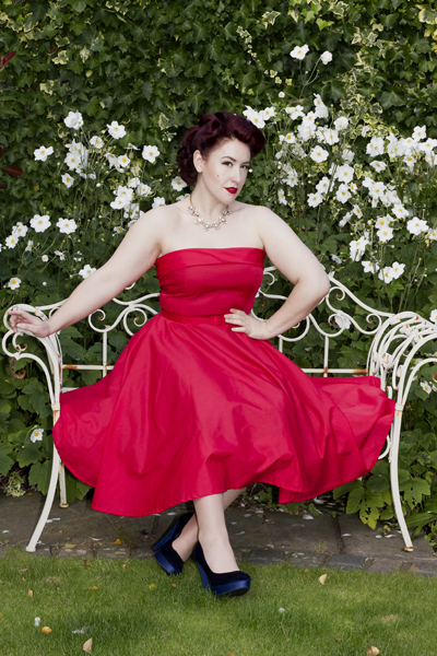 Style Icon's Closet Red Audrey Fifties Dress