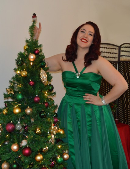 Unique Vintage Emerald Green Dovima dress