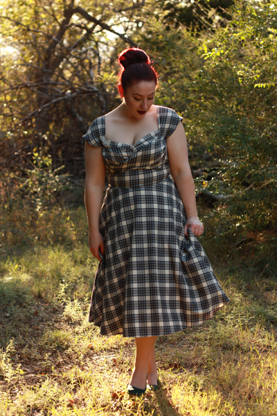 Stop Staring! Dorathy grey plaid swing dress