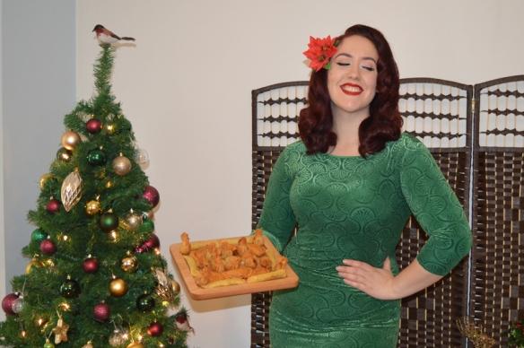 Zoe Vine Ava Green Velvet Wiggle Dress