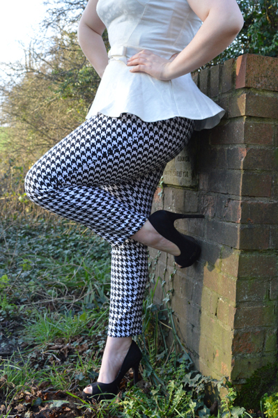 Pinup Girl Clothing Houndstooth Cigarette Pants