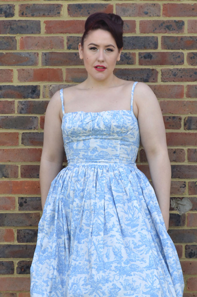 Bernie Dexter Paris Dress Blue Toile