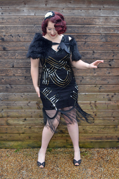 Littleblackdress.co.uk GatsbyLady Juliet Fringe Dress Flapper