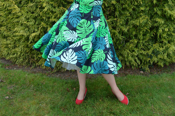 Collectif Tahiti Palm Print Dolores Dress