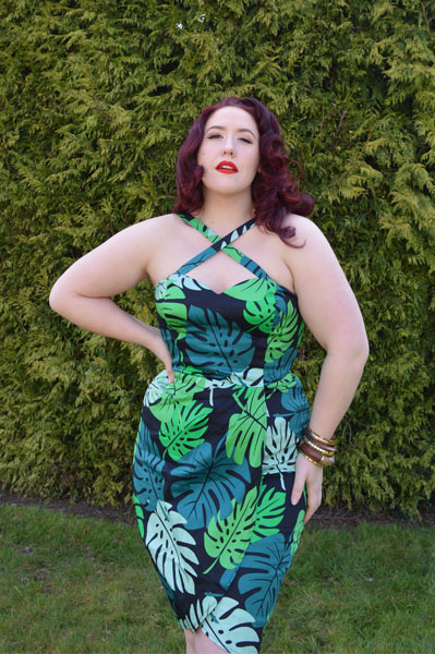 Collectif Mahina Tahiti Palm Print Sarong Dress