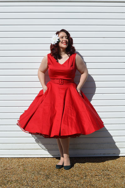Malco Modes Madeline petticoat Red Havana Dress Pinup Girl Clothing
