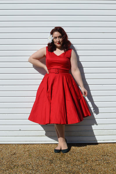 Malco Modes Jennifer petticoat Red Havana Dress Pinup Girl Clothing