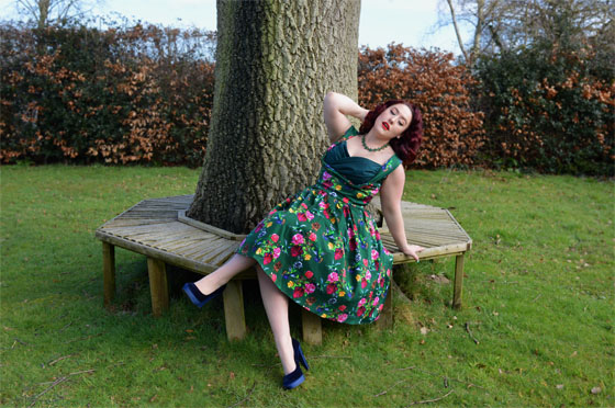 Lady V London Madison Birds of Paradise Dress