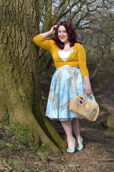 Oh My Honey Map Print Circle Skirt
