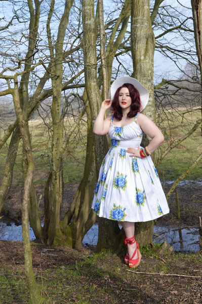 Retrospec'd Norma Jean Sunday Rose Dress