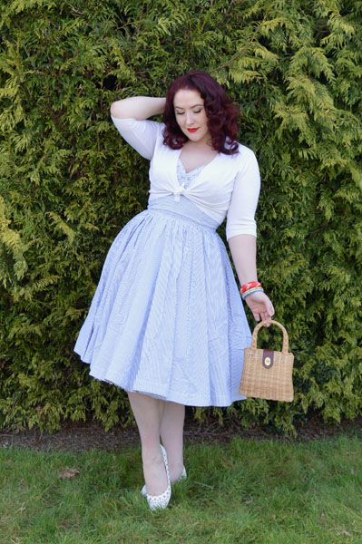 Trashy Diva Apple Tart Seersucker dress