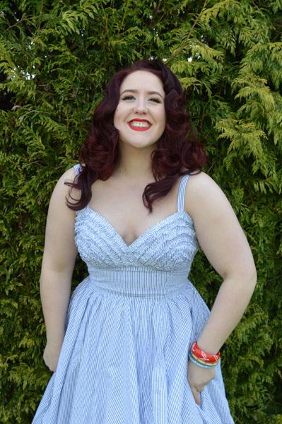Trashy Diva Apple Tart Seersucker dress