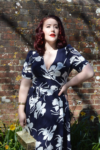Jolene Wrap Dress Deco Daffodil Trashy Diva