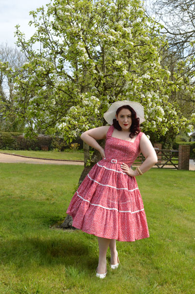 Collectif Aida Zak Red Erina dress