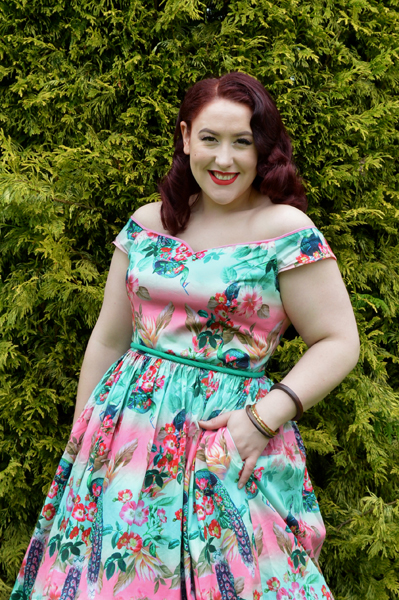 Hell Bunny 50s Peacock dress