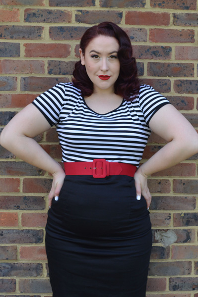 Dolly & Dotty Gina Top, Falda Pencil Skirt