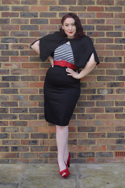 Dolly & Dotty Sabrina Cape, Gina Top, Falda Pencil Skirt