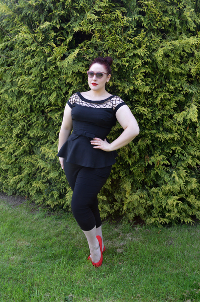 DIY Project Turning Tatyana Alika Dress Blouse into a Peplum top