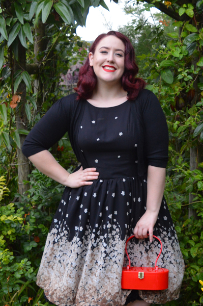 Shop Bluebelle Lady In Black Tea Dress Plus Size