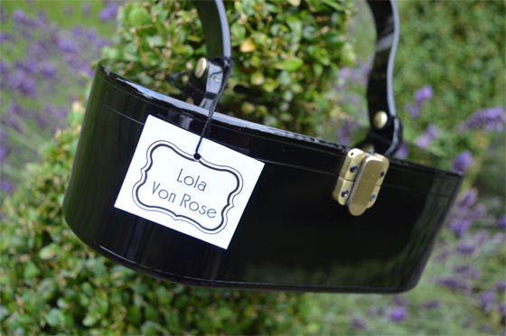 Lola Von Rose Black Acrylic Vintage Style Box Purse